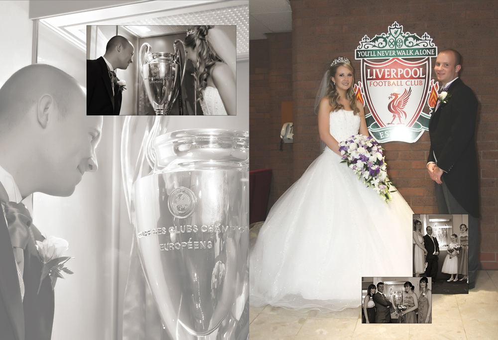 The Wedding of Natalie & Jamie at St Paul's C of E, Skelmersdale and following reception Liverpool Football Club, Anfield, Liverpool